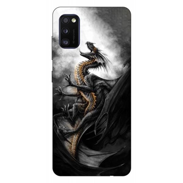 Husa Silicon Soft Upzz Print Samsung Galaxy Galaxy A41 Model Dragon 1 imagine itelmobile.ro 2021