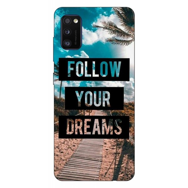Husa Silicon Soft Upzz Print Samsung Galaxy Galaxy A41 Model Dreams imagine itelmobile.ro 2021