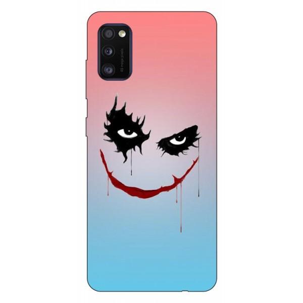 Husa Silicon Soft Upzz Print Samsung Galaxy Galaxy A41 Model Joker imagine itelmobile.ro 2021