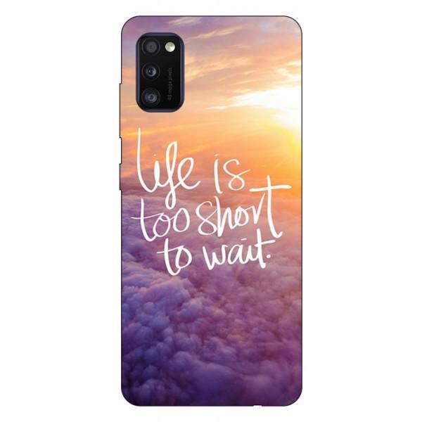 Husa Silicon Soft Upzz Print Samsung Galaxy Galaxy A41 Model Life imagine itelmobile.ro 2021