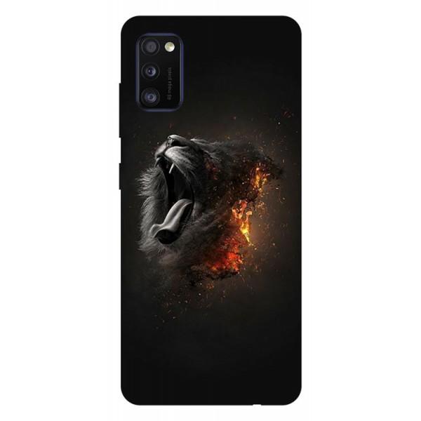 Husa Silicon Soft Upzz Print Samsung Galaxy Galaxy A41 Model Lion imagine itelmobile.ro 2021