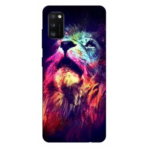 Husa Silicon Soft Upzz Print Samsung Galaxy Galaxy A41 Model Neon Lion imagine itelmobile.ro 2021