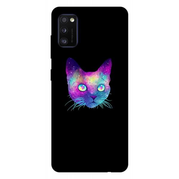 Husa Silicon Soft Upzz Print Samsung Galaxy Galaxy A41 Model Neon Cat imagine itelmobile.ro 2021