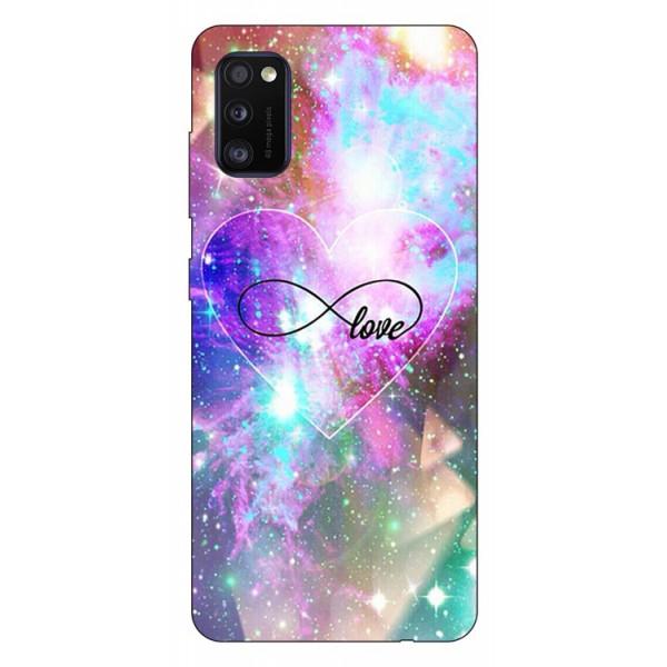 Husa Silicon Soft Upzz Print Samsung Galaxy Galaxy A41 Model Neon Love imagine itelmobile.ro 2021