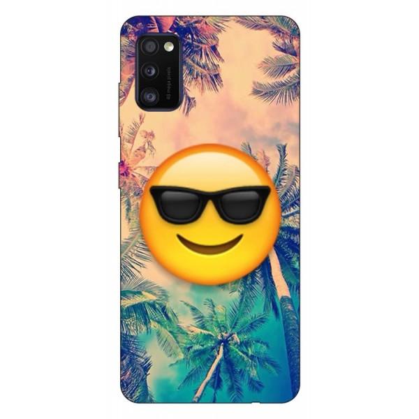Husa Silicon Soft Upzz Print Samsung Galaxy Galaxy A41 Model Smile imagine itelmobile.ro 2021