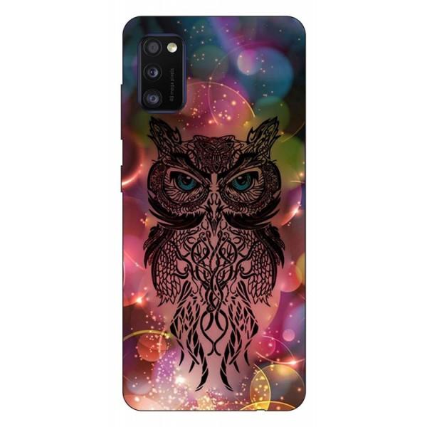 Husa Silicon Soft Upzz Print Samsung Galaxy Galaxy A41 Model Sparkle Owl imagine itelmobile.ro 2021