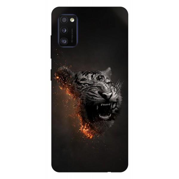 Husa Silicon Soft Upzz Print Samsung Galaxy Galaxy A41 Model Tiger imagine itelmobile.ro 2021