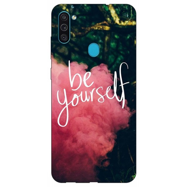 Husa Silicon Soft Upzz Print Samsung Galaxy A11 Model Be Yourself imagine itelmobile.ro 2021