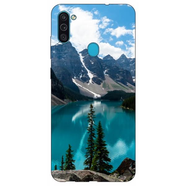 Husa Silicon Soft Upzz Print Samsung Galaxy A11 Model Blue imagine itelmobile.ro 2021