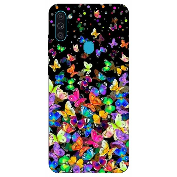 Husa Silicon Soft Upzz Print Samsung Galaxy A11 Model Colorature imagine itelmobile.ro 2021
