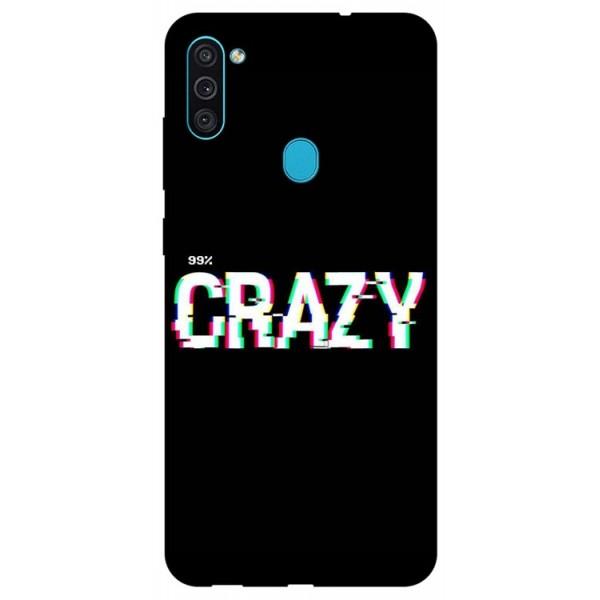Husa Silicon Soft Upzz Print Samsung Galaxy A11 Model Crazy imagine itelmobile.ro 2021
