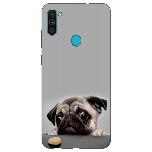 Husa Silicon Soft Upzz Print Samsung Galaxy A11 Model Dog imagine itelmobile.ro 2021