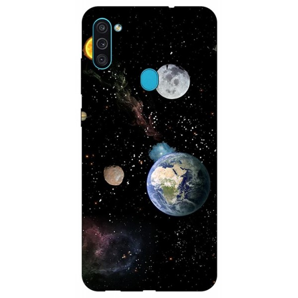 Husa Silicon Soft Upzz Print Samsung Galaxy A11 Model Earth imagine itelmobile.ro 2021