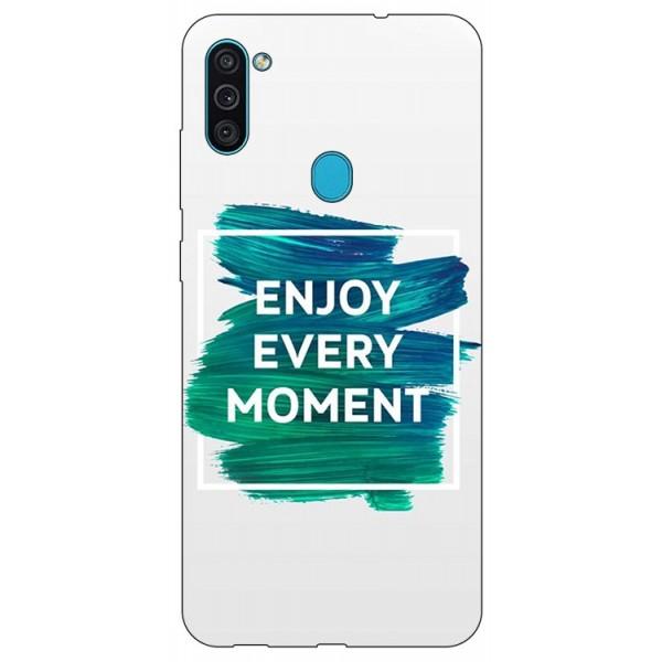 Husa Silicon Soft Upzz Print Samsung Galaxy A11 Model Enjoy imagine itelmobile.ro 2021