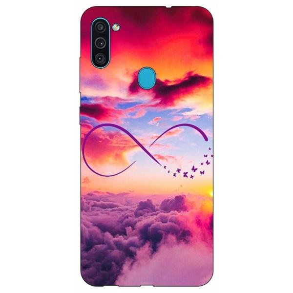 Husa Silicon Soft Upzz Print Samsung Galaxy A11 Model Infinity imagine itelmobile.ro 2021