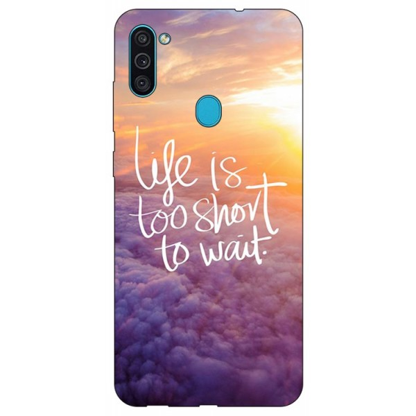 Husa Silicon Soft Upzz Print Samsung Galaxy A11 Model Life imagine itelmobile.ro 2021