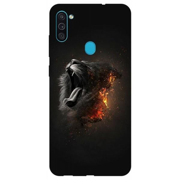 Husa Silicon Soft Upzz Print Samsung Galaxy A11 Model Lion imagine itelmobile.ro 2021