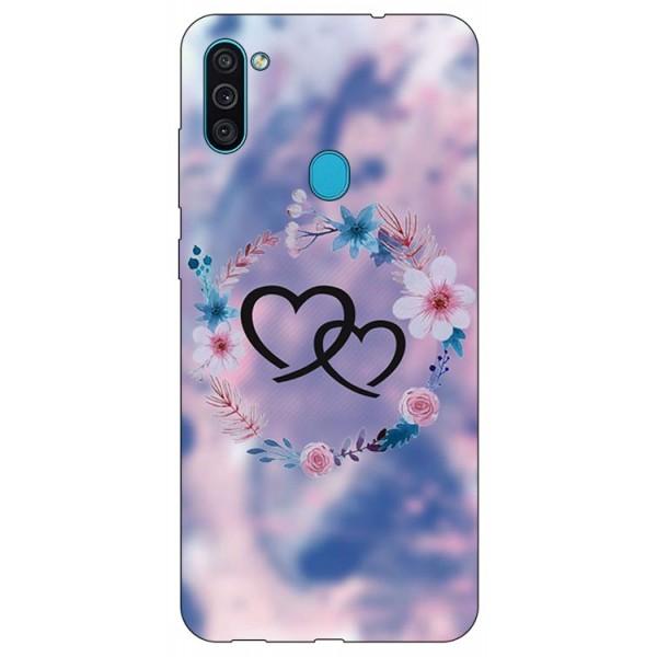 Husa Silicon Soft Upzz Print Samsung Galaxy A11 Model Love imagine itelmobile.ro 2021