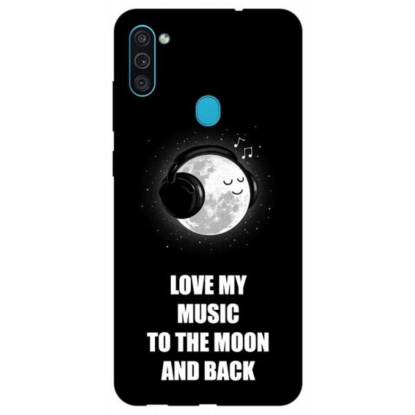 Husa Silicon Soft Upzz Print Samsung Galaxy A11 Model Music imagine itelmobile.ro 2021