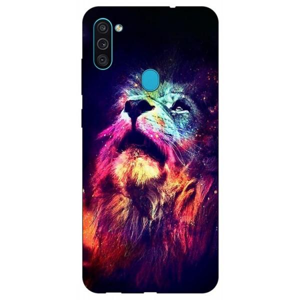 Husa Silicon Soft Upzz Print Samsung Galaxy A11 Model Neon Lion imagine itelmobile.ro 2021