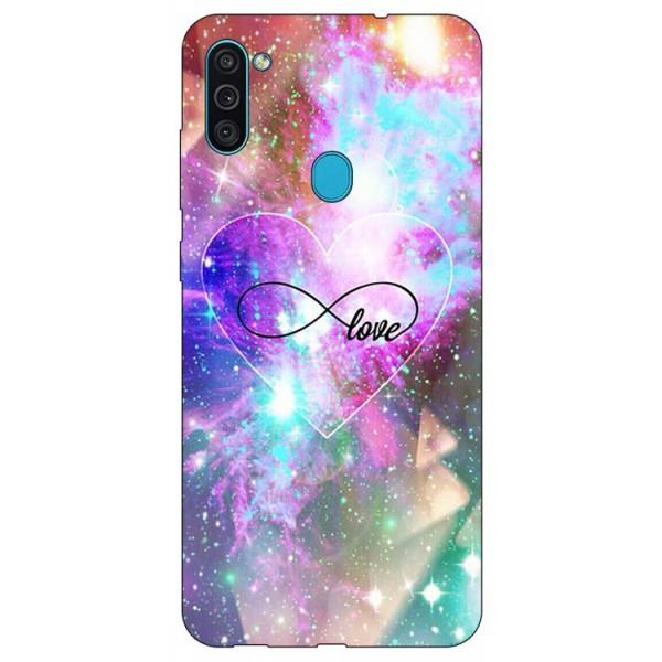 Husa Silicon Soft Upzz Print Samsung Galaxy A11 Model Neon Love imagine itelmobile.ro 2021