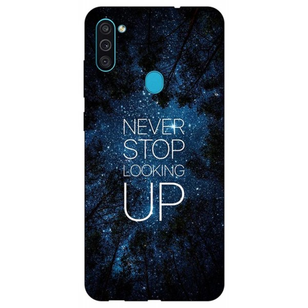 Husa Silicon Soft Upzz Print Samsung Galaxy A11 Model Never Stop imagine itelmobile.ro 2021