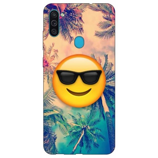 Husa Silicon Soft Upzz Print Samsung Galaxy A11 Model Smile imagine itelmobile.ro 2021