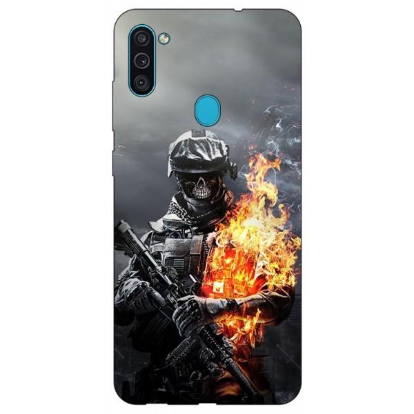 Husa Silicon Soft Upzz Print Samsung Galaxy A11 Model Soldier imagine itelmobile.ro 2021