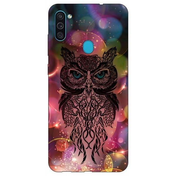 Husa Silicon Soft Upzz Print Samsung Galaxy A11 Model Sparkle Owl imagine itelmobile.ro 2021
