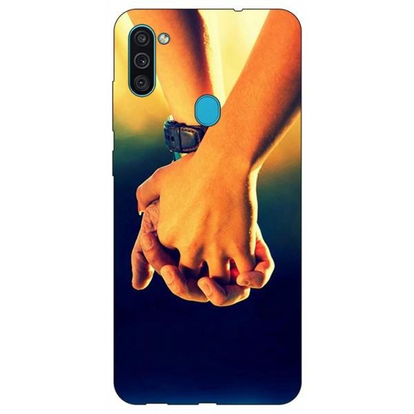 Husa Silicon Soft Upzz Print Samsung Galaxy A11 Model Together imagine itelmobile.ro 2021