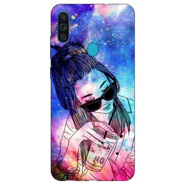Husa Silicon Soft Upzz Print Samsung Galaxy A11 Model Universe Girl imagine itelmobile.ro 2021