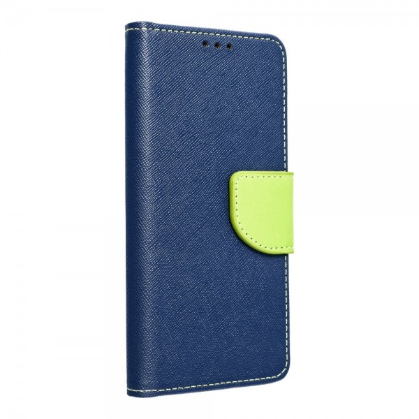 Husa Flip Carte Fancy Book Huawei P40 Lite , Albastru Lime imagine itelmobile.ro 2021