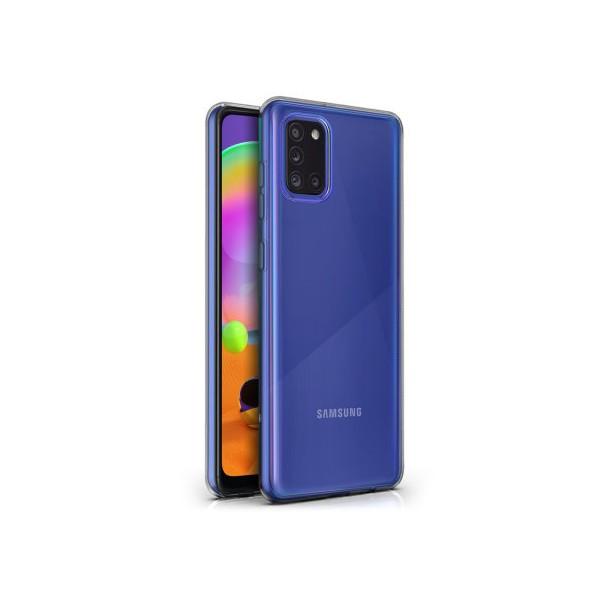 Husa Spate Silicon Ultra Slim Upzz Samsung Galaxy A31 Transparenta imagine itelmobile.ro 2021