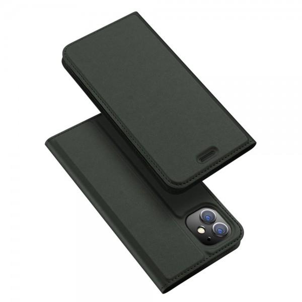 Husa Premium Flip Cover Duxducis Skin Pro iPhone 11 ,verde imagine itelmobile.ro 2021