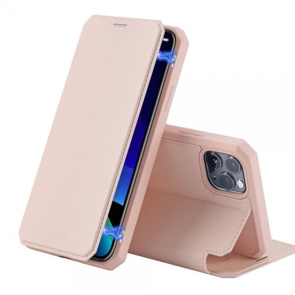 Husa Premium Flip Cover Duxducis Skin X iPhone 11 Pro,roz imagine itelmobile.ro 2021