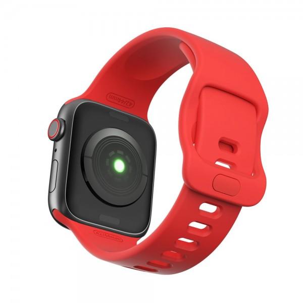 Curea Icon Band Upzz Tech Protect ,compatibila Cu Apple Watch 1/2/3/4/5/6 (38/40mm), Red imagine itelmobile.ro 2021