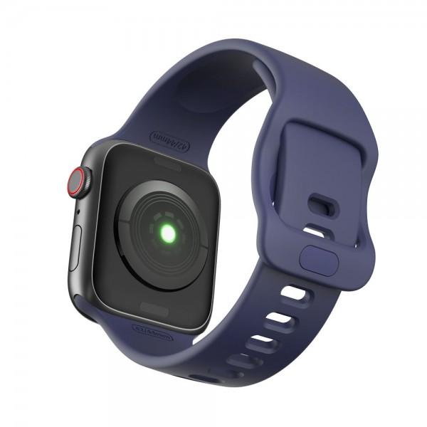 Curea Icon Band Upzz Tech Protect ,compatibila Cu Apple Watch 1/2/3/4/5/6 (38/40mm), Navy imagine itelmobile.ro 2021