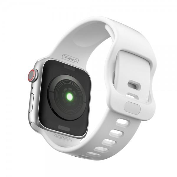 Curea Icon Band Upzz Tech Protect ,compatibila Cu Apple Watch 1/2/3/4/5/6 (42/44mm), Alb imagine itelmobile.ro 2021