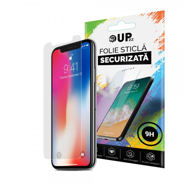 Folie Sticla Securizata 9h Upzz iPhone X / iPhone 10 imagine itelmobile.ro 2021