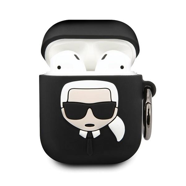 Husa Protectie Originala Karl Lagerfeld Pentru Airpods 1/2 Negru imagine itelmobile.ro 2021