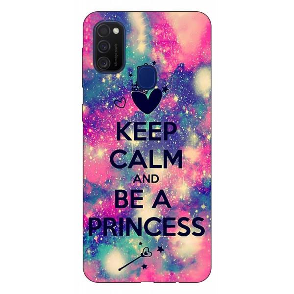 Husa Silicon Soft Upzz Print Samsung Galaxy M21 Model Be Princess imagine itelmobile.ro 2021