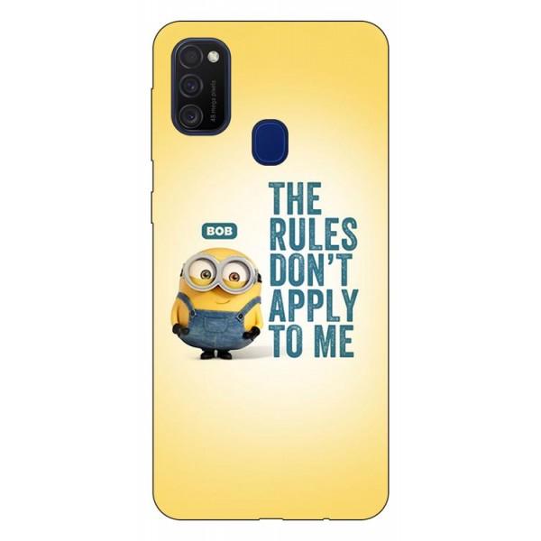 Husa Silicon Soft Upzz Print Samsung Galaxy M21 Model Bob imagine itelmobile.ro 2021