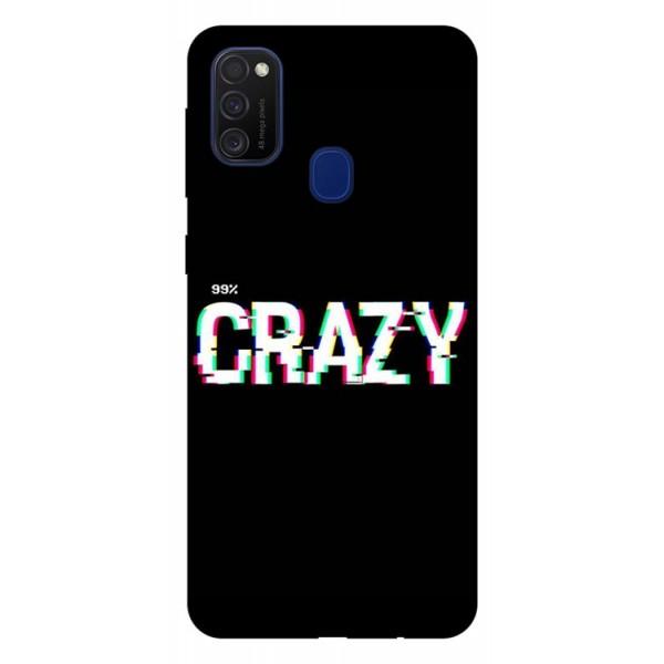 Husa Silicon Soft Upzz Print Samsung Galaxy M21 Model Crazy imagine itelmobile.ro 2021