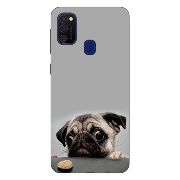 Husa Silicon Soft Upzz Print Samsung Galaxy M21 Model Dog imagine itelmobile.ro 2021