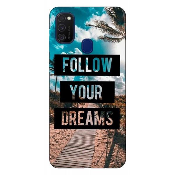 Husa Silicon Soft Upzz Print Samsung Galaxy M21 Model Dreams imagine itelmobile.ro 2021