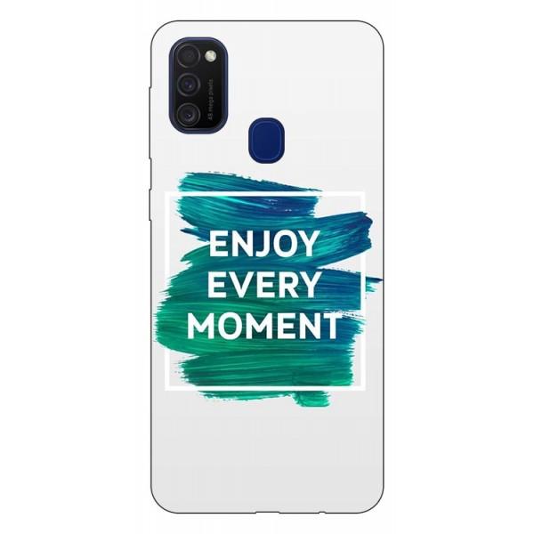 Husa Silicon Soft Upzz Print Samsung Galaxy M21 Model Enjoy imagine itelmobile.ro 2021