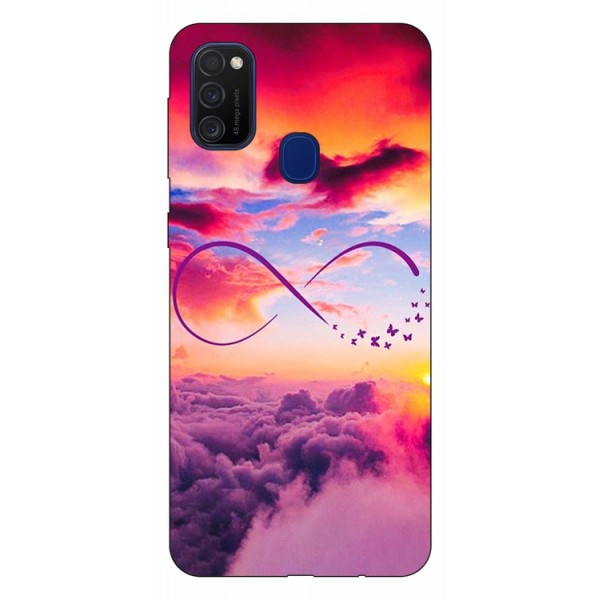 Husa Silicon Soft Upzz Print Samsung Galaxy M21 Model Infinity imagine itelmobile.ro 2021