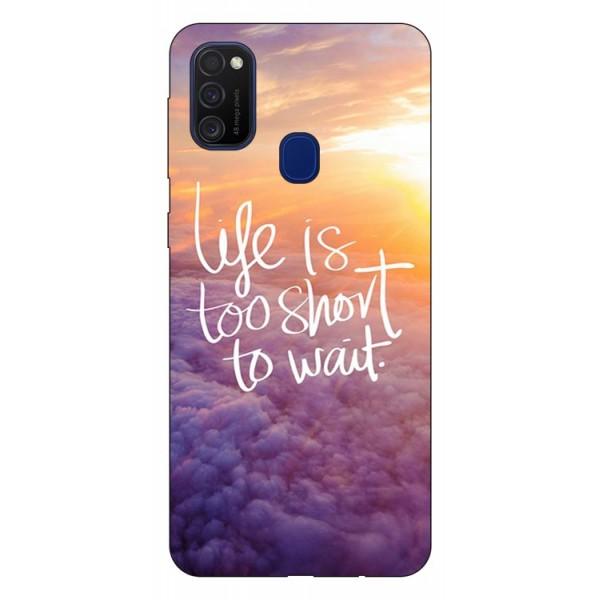 Husa Silicon Soft Upzz Print Samsung Galaxy M21 Model Life imagine itelmobile.ro 2021