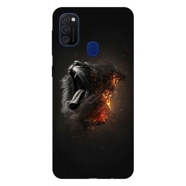 Husa Silicon Soft Upzz Print Samsung Galaxy M21 Model Lion imagine itelmobile.ro 2021