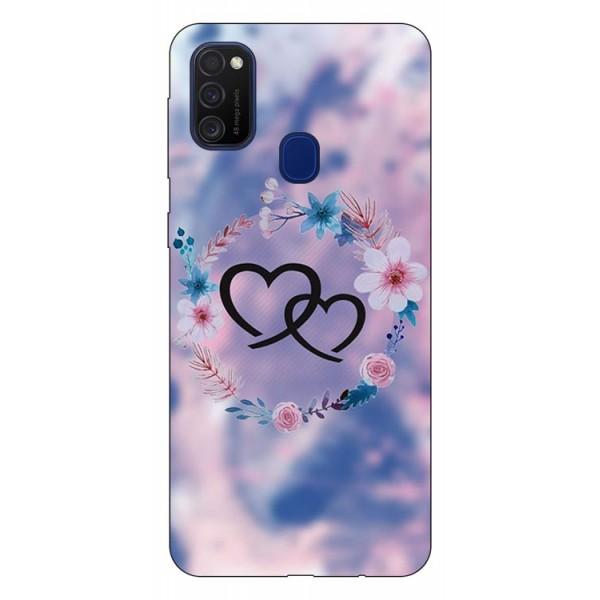 Husa Silicon Soft Upzz Print Samsung Galaxy M21 Model Love imagine itelmobile.ro 2021